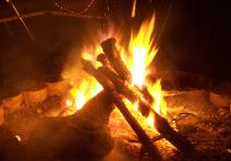 campfires by night...
